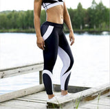 Sport Fitness Leggings Women Mesh Print High Waist