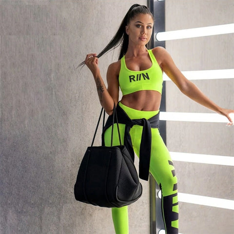 Neon Tracksuit Two Pieces Set