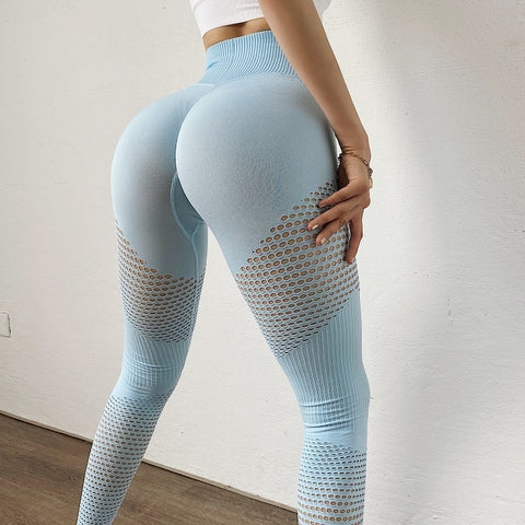 Push Up Fitness Leggings with Mesh