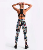 Autumn Monster Army Leggings Black 3D Printed