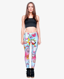 Fashion Fast Food Comix 3D Printing Punk Leggings for Women