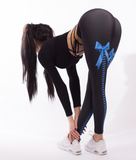 Fitness Push Up Sexy Bow Digital Printing Leggings