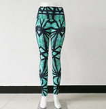 Honeycomb Skull Printed Leggings Women Fashion High Waist Sweat Sexy Hip Leggings