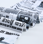 Newspaper Letter Print Workout Leggings