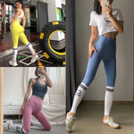 Trendy Seamless High Waisted Gym Leggings