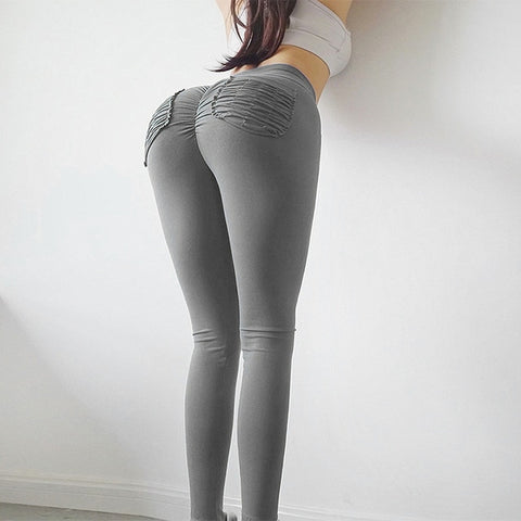 Women High Waist Pockets Push Up Sexy Leggings