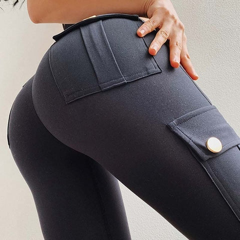 Military Style Gym Leggings with Pockets