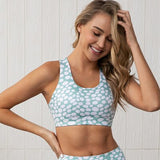 2 Piece Activewear Women Set with Polka Dot Pattern