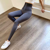Stretchy Compression Leggings with Slim High Waist and Push Up Effect