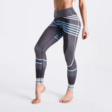 Casual Leggings Long Pants Striped Patchwork High Waist Pants