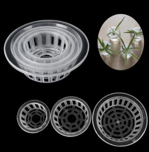 2Pcs Plastic Mesh Pots Net Cloning Basket Hydroponic Aquarium Insert Plants Growth Flower Pot Tray Garden Supplies