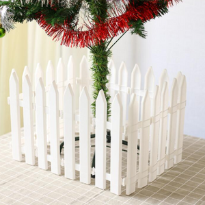 20pcs,30*11.5cm,Christmas Supplies Christmas Tree Decoration White Plastic Fence Garden,Courtyard garden fence