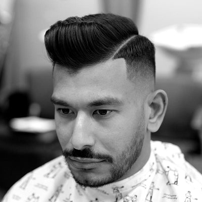 Skin Fade Hard Part Pomp - How to Cut