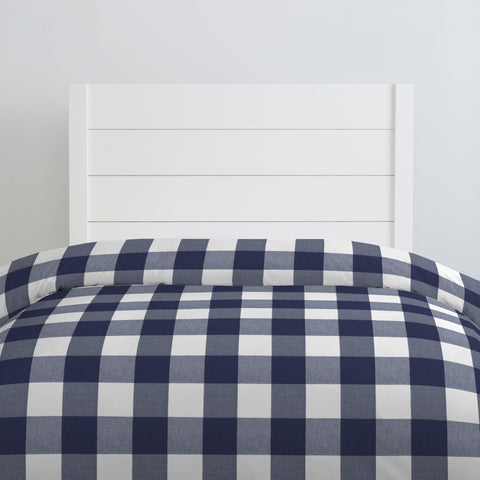Woven Buffalo Check Navy Standard Pillow Sham