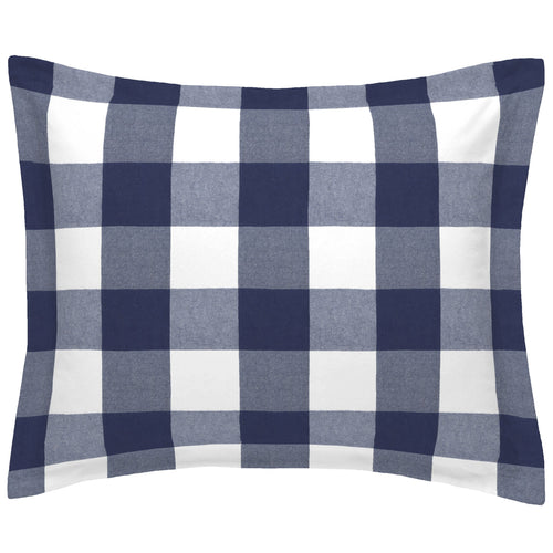 Woven Buffalo Check Navy Standard Pillow Sham - Project Nursery