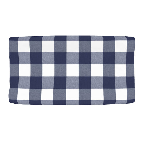 Navy Buffalo Check Changing Pad Cover - Project Nursery
