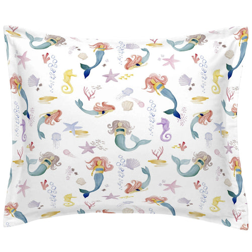 Watercolor Mermaids Twin Pillow Sham - Project Nursery