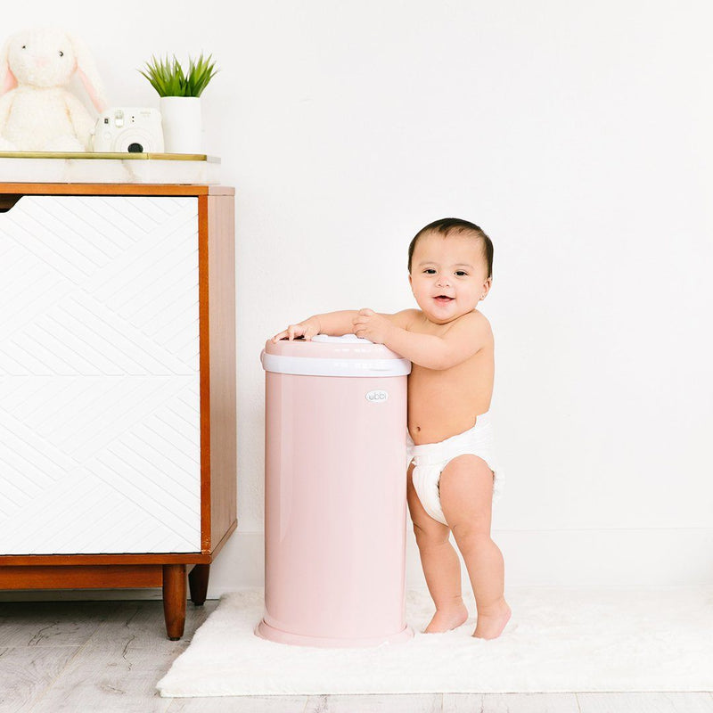 Ubbi Diaper Pail in Blush Pink - Project Nursery