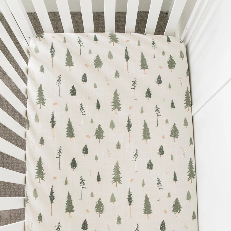 Pine Cotton Muslin Crib Sheet - Project Nursery
