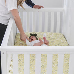 Yellow Buds Cotton Muslin Crib Sheet - Project Nursery