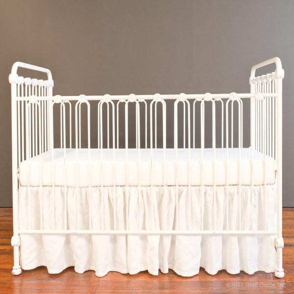 Joy Baby Crib Distressed White - The Project Nursery Shop - 11