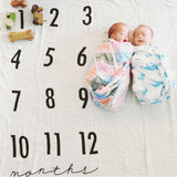 Monthly Milestone Cotton Muslin Swaddle Blanket  - The Project Nursery Shop - 5