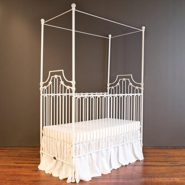 Parisian 3 in 1 Crib Distressed White - The Project Nursery Shop - 10