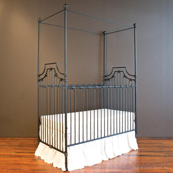 Parisian 3 in 1 Crib Distressed Black - The Project Nursery Shop - 15