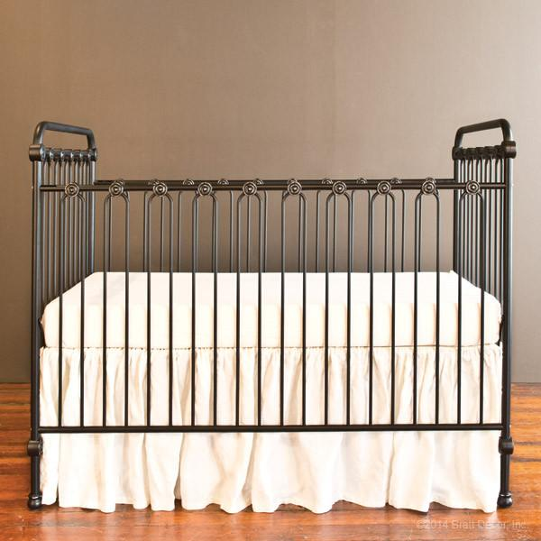 Joy Baby Crib Distressed Black - The Project Nursery Shop - 16