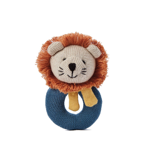 Lion Baby Ring Rattle - Project Nursery
