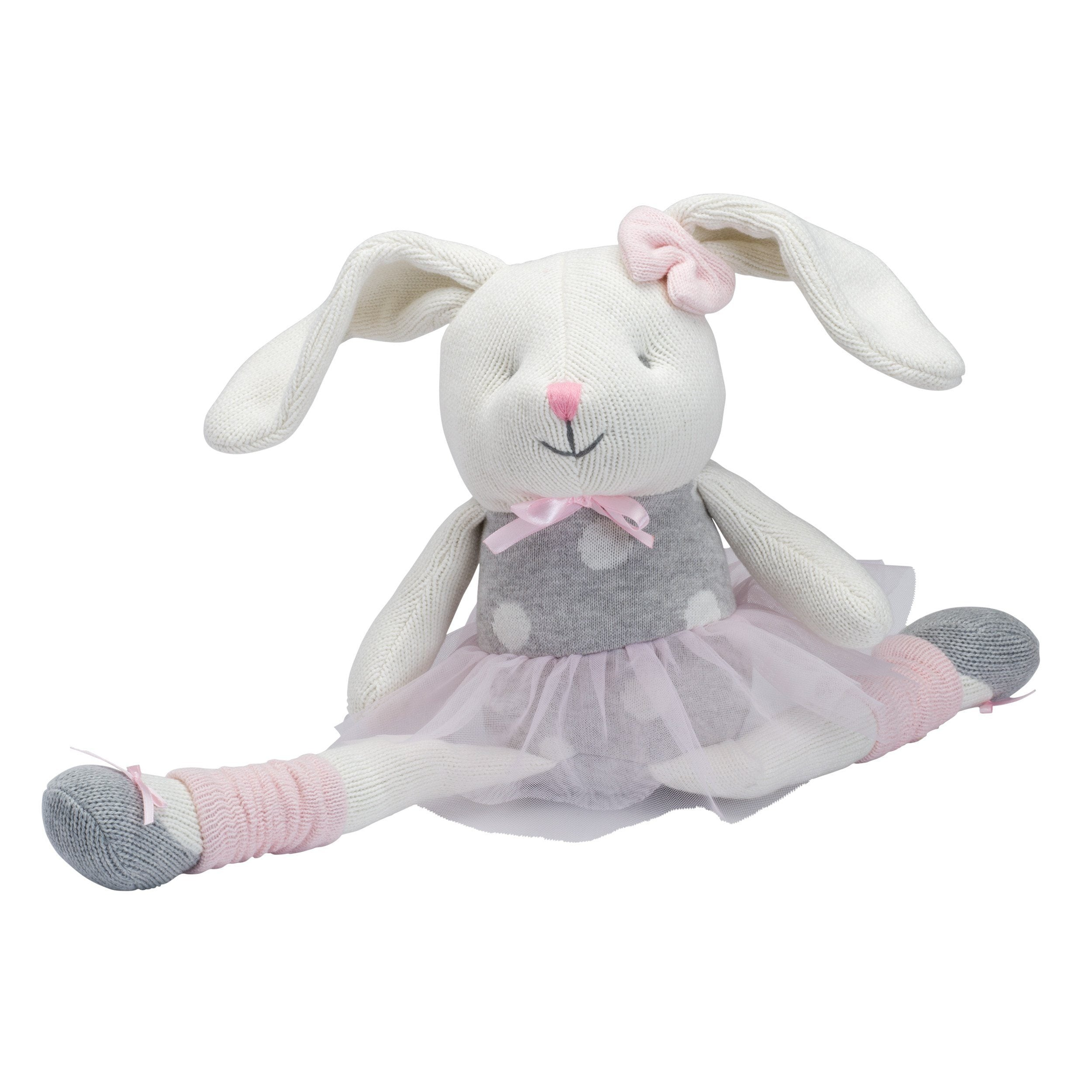 Ballet Bunny Knittie Bittie Toy - Project Nursery