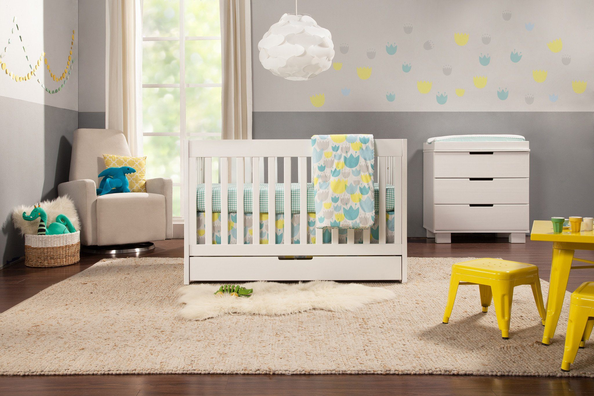 Mercer 3-in-1 Convertible Crib with Toddler Bed Conversion Kit ...