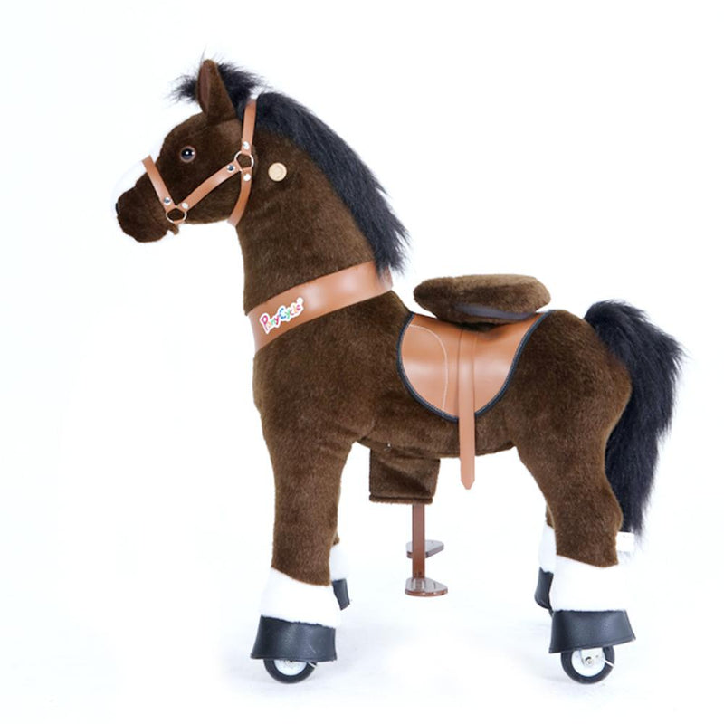 PonyCycle Dark Brown Horse with White Hoof - Project Nursery
