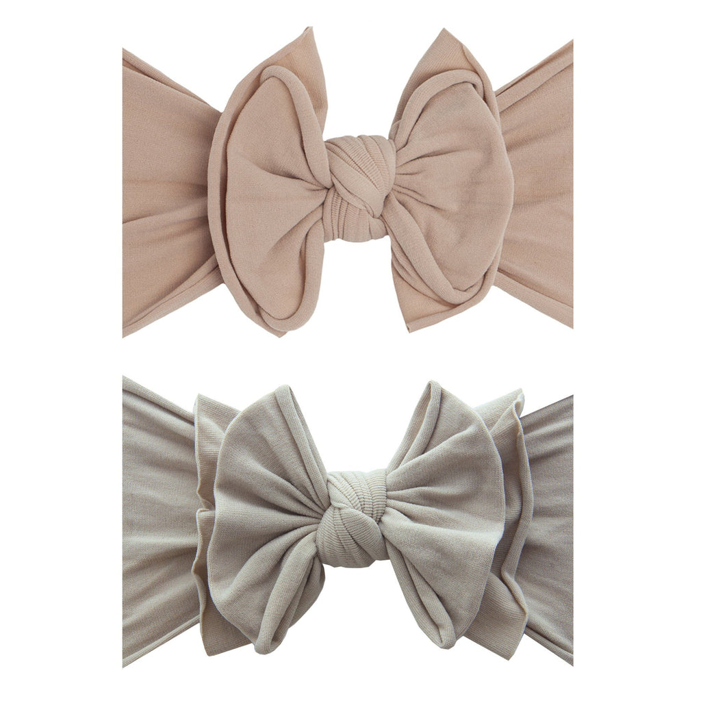 Blush + Mushroom Fab-Bow-Lous Knot Headband - 2 Pk - Project Nursery