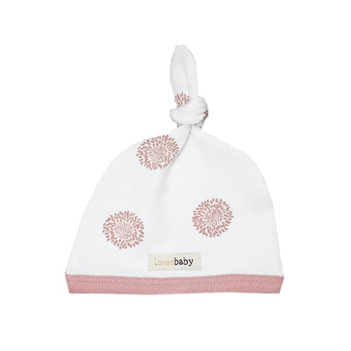 Organic Top-Knot Hat- Mauve Sunflower - Project Nursery