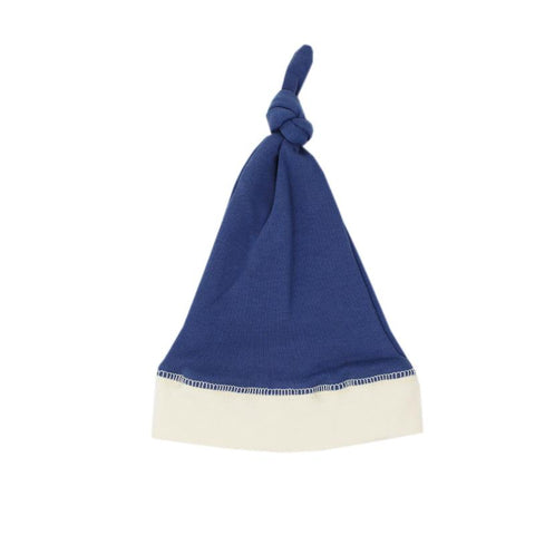Hello World Hat + Swaddle Set - Triangle Blue