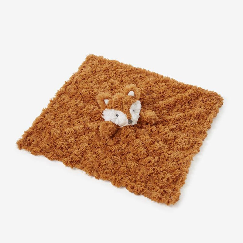 Rust Swirl Fox Baby Security Blanket - Project Nursery