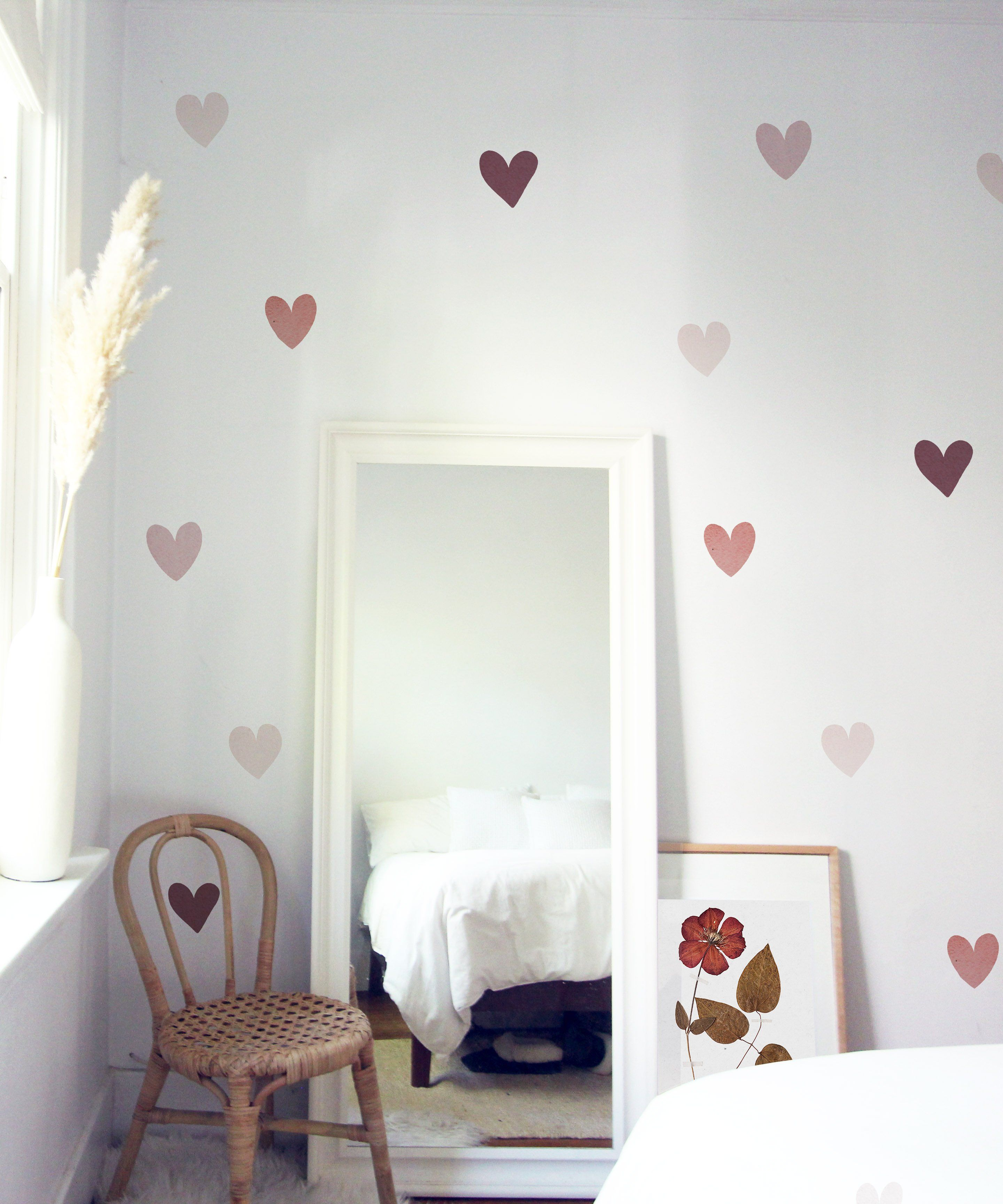 Mini Watercolor Heart Decals - Project Nursery