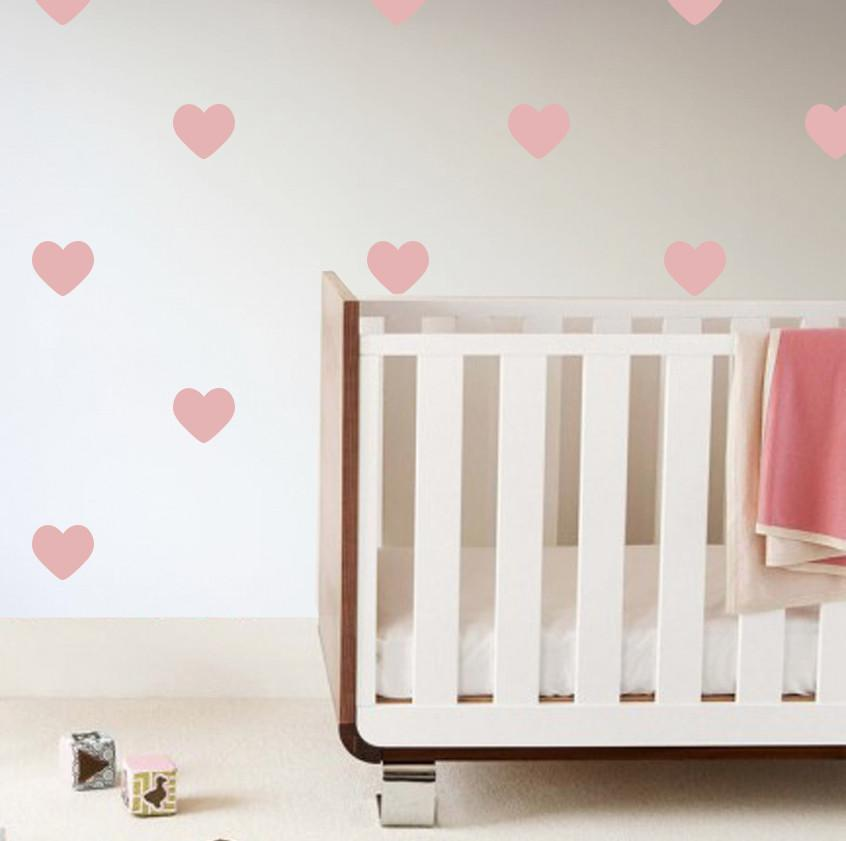 Heart Wall Decals Pink - The Project Nursery Shop - 3