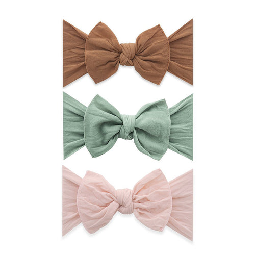 3-Piece Camel, Sage, Petal Knot Headband Set - Project Nursery