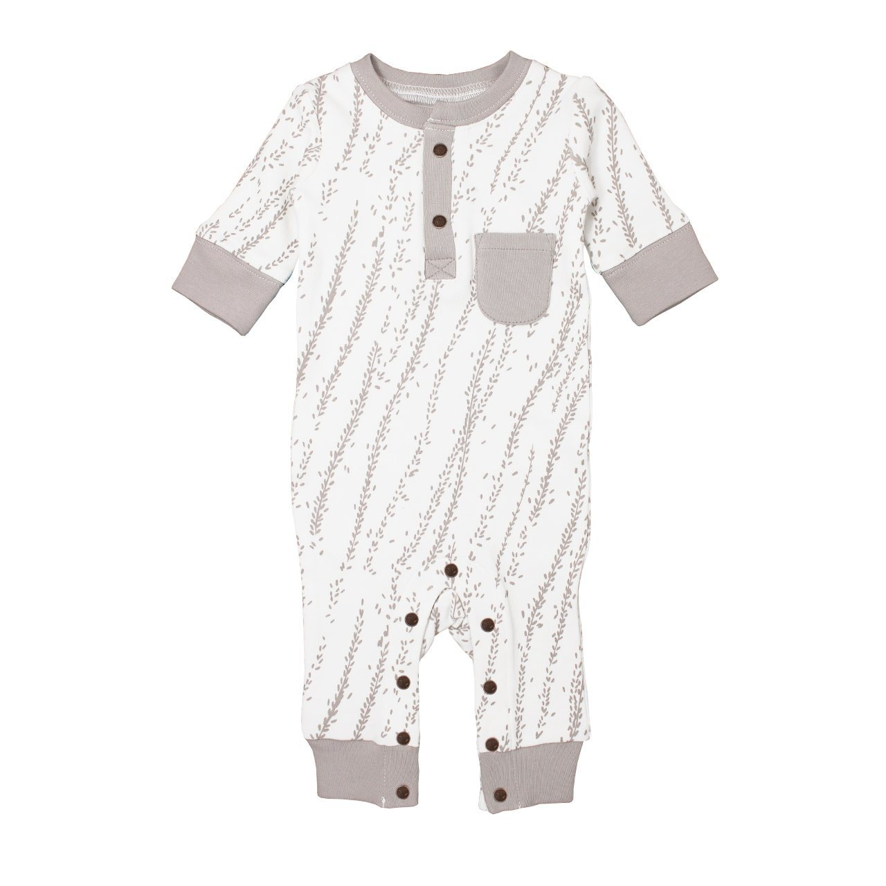 Organic Footless Romper - Light Gray Willow - Project Nursery