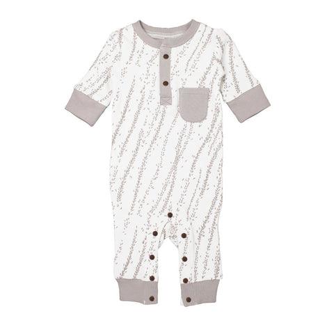 Organic Footed Overall - White