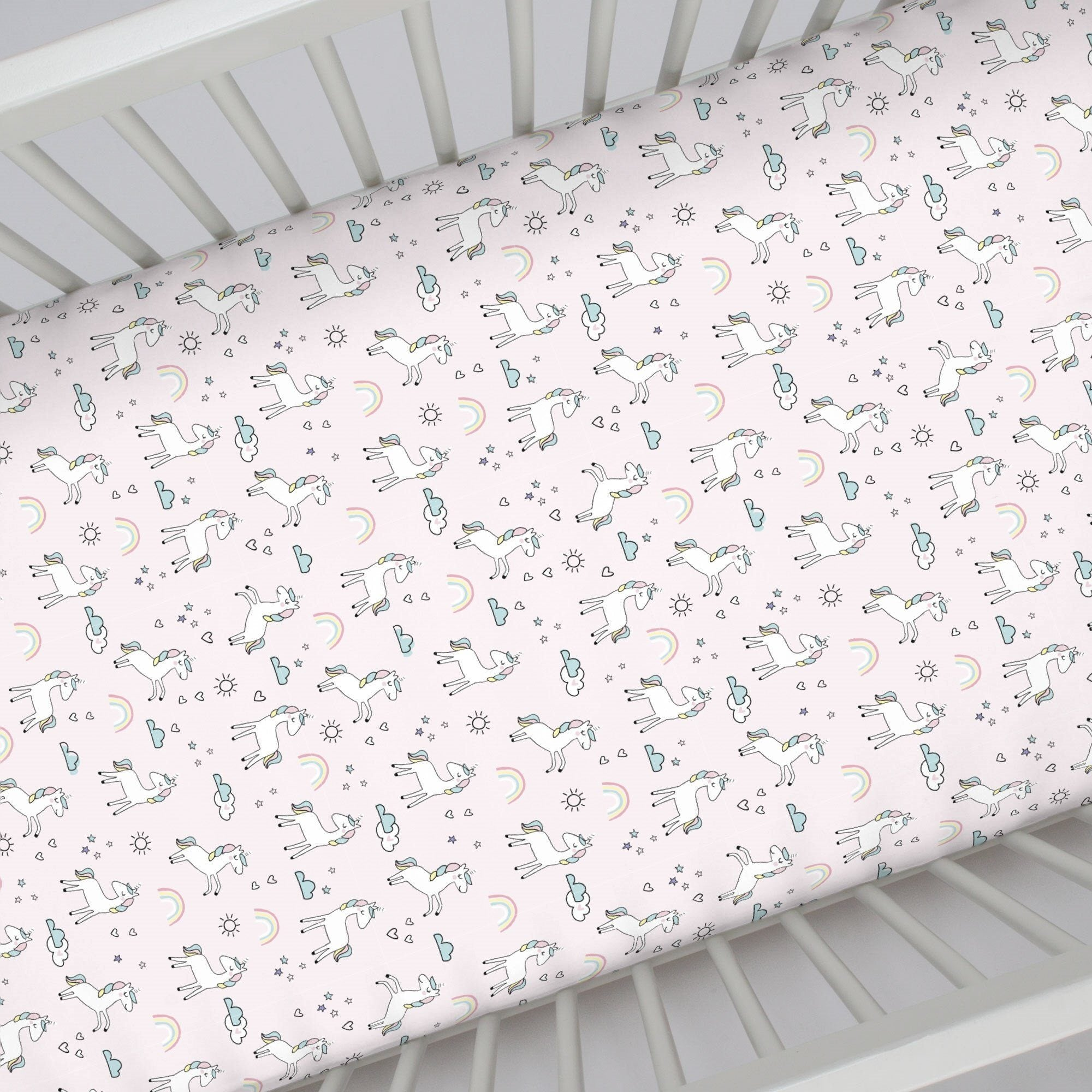 Pink Unicorn Crib Sheet - Project Nursery