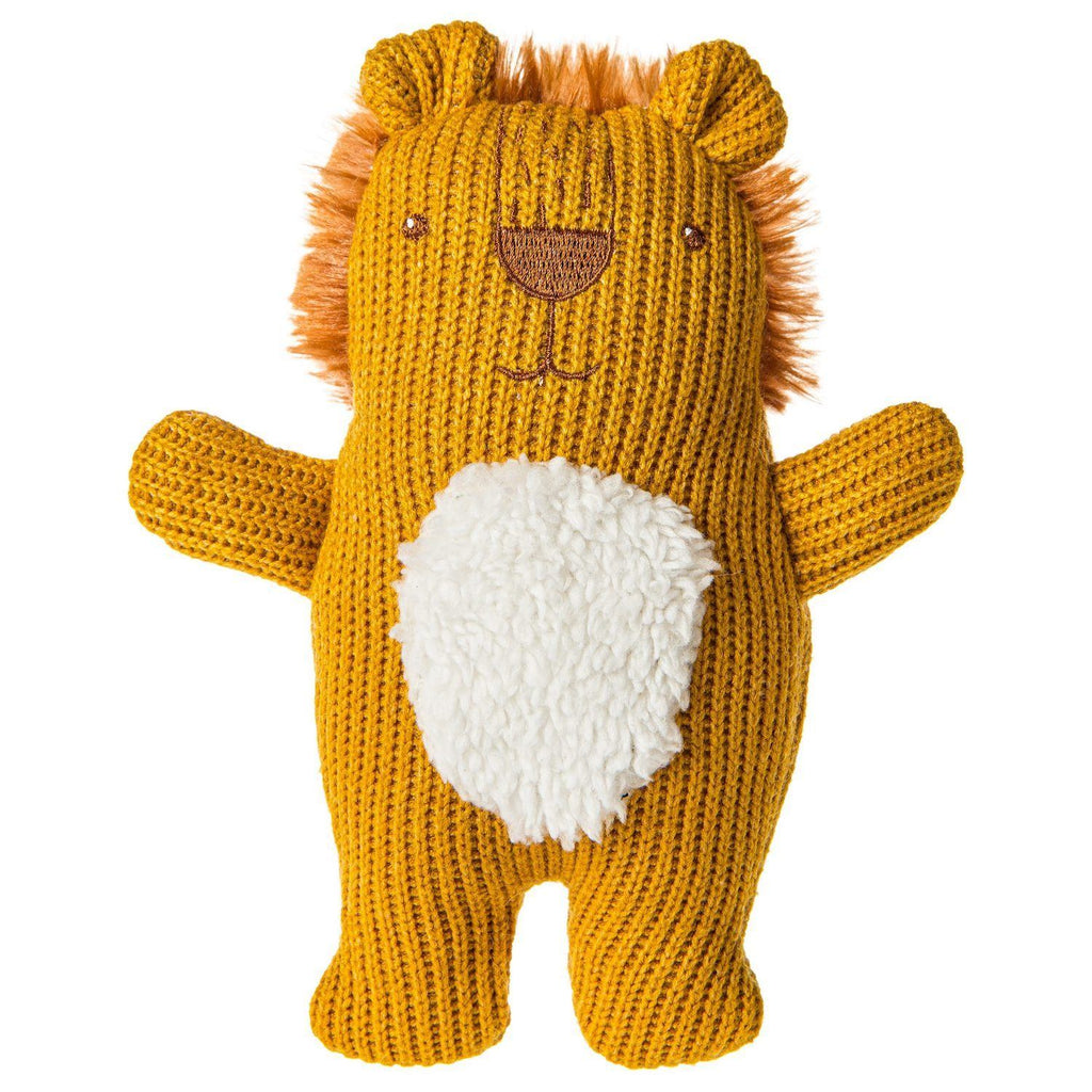 Knitted Nursery Lion Rattle - Project Nursery