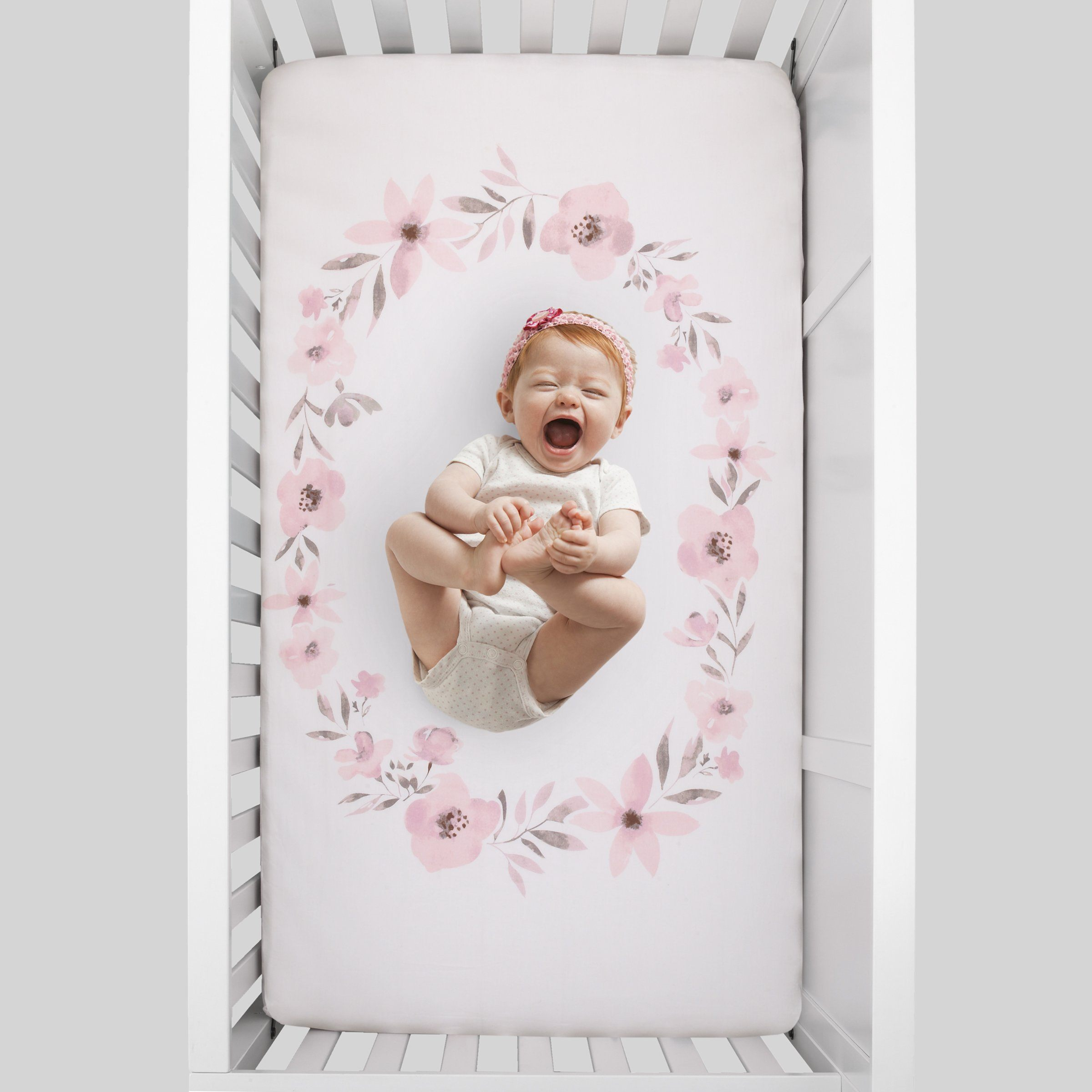 Countryside Floral Photo Op Crib Sheet - Project Nursery