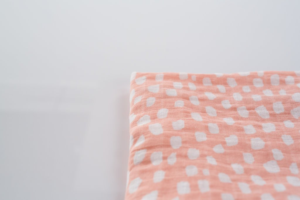 Spotted Blush Swaddle Blanket - Project Nursery