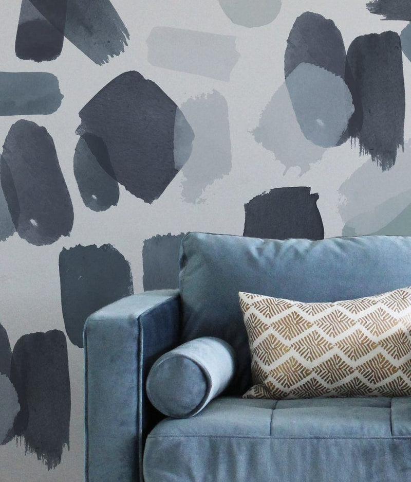 Large Indigo Brush Strokes Wall Decals - Project Nursery