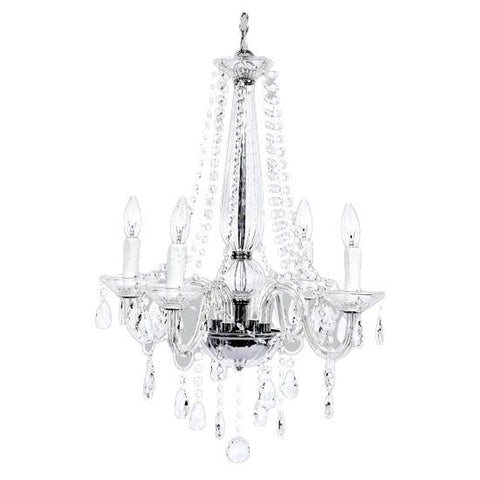Harp Chandelier in White