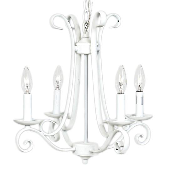 Harp Chandelier in White  - The Project Nursery Shop
