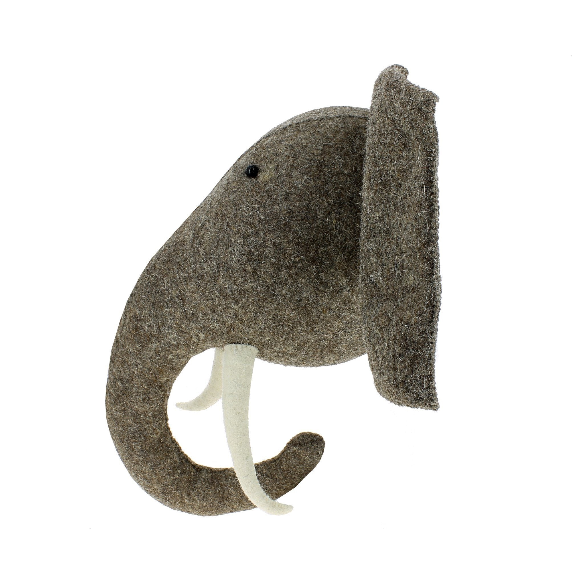 Elephant Head with Tusks Wall Hanging - Project Nursery